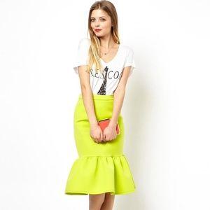 279aba3cf9 ASOS Skirts   Premium Pencil Skirt In Scuba With Peplum   Poshmark